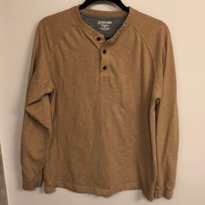 ☀️4 for $25 St. John's Bay suede Henley tan